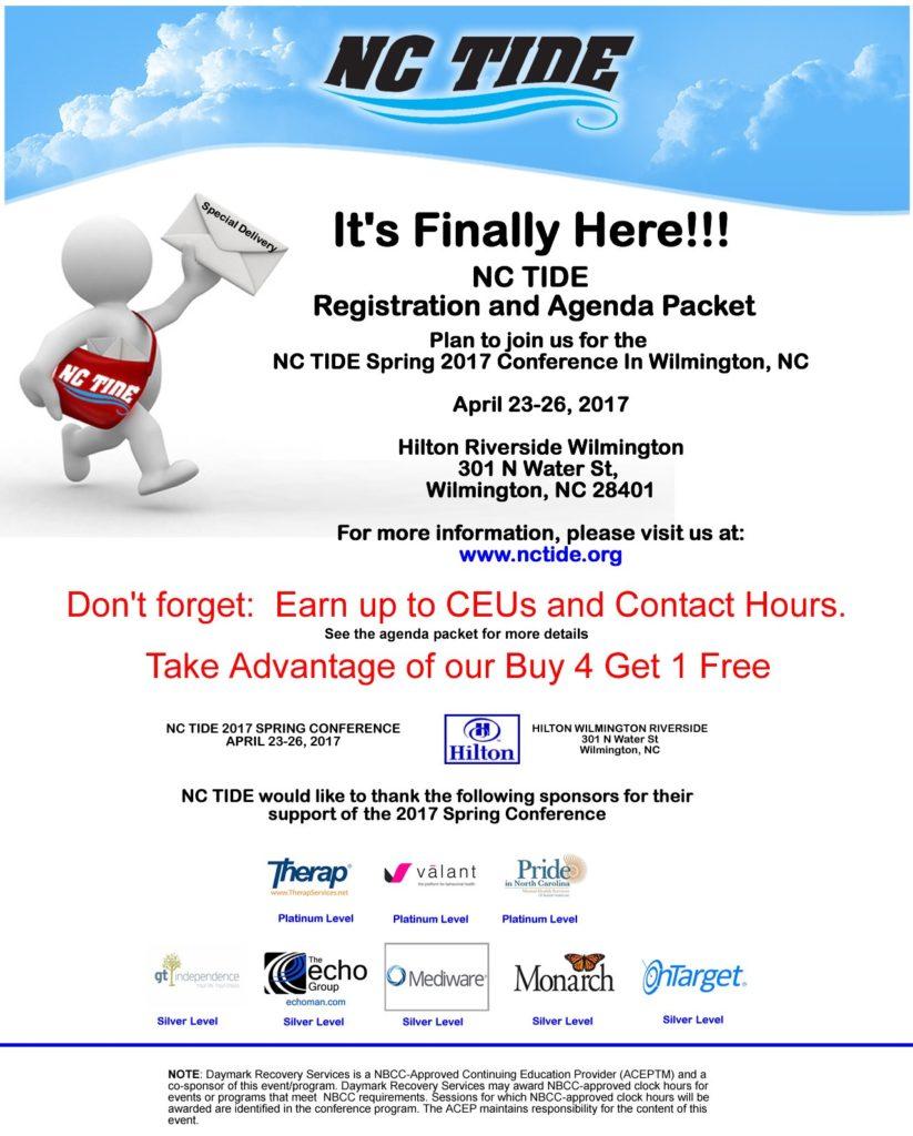NC TIDE Registration and Agenda